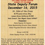 State Deputy Forum Dec 2015