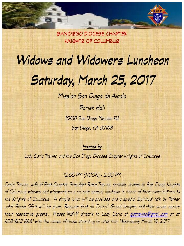Widows and Widowers Luncheon Mar 2017