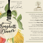 Lamb of God Spaghetti Dinner Invite