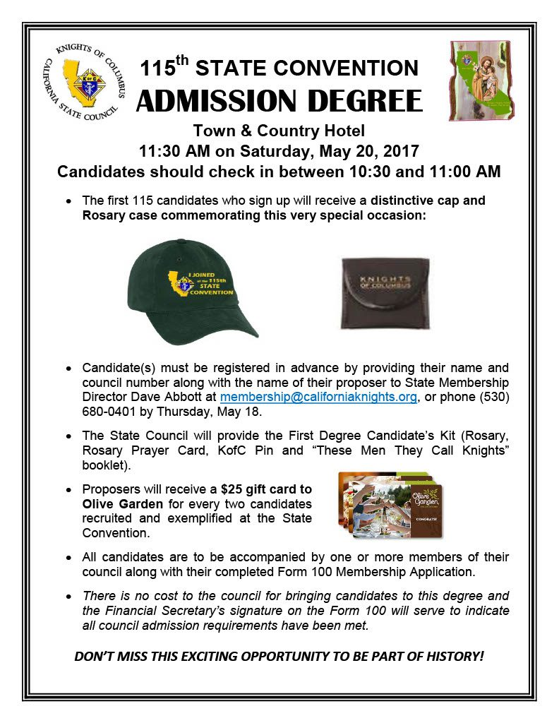 Admission Degree at the State Convention Flyer1024_1